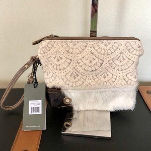 Handbags - Myra bag Hoop and Hair-on Strip Pouch wristlet NWT